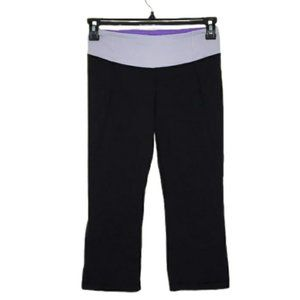 LULULEMON gather and grow crops size 6